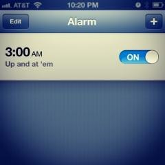 alarm clock waking up early